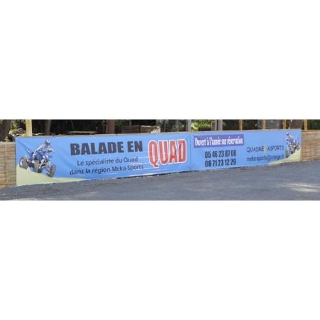 banderole personalisée 2000x600mm