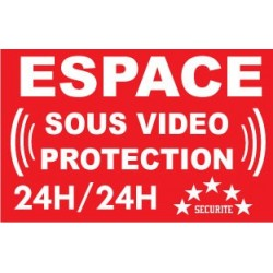 panneau espace sous vidéo protection