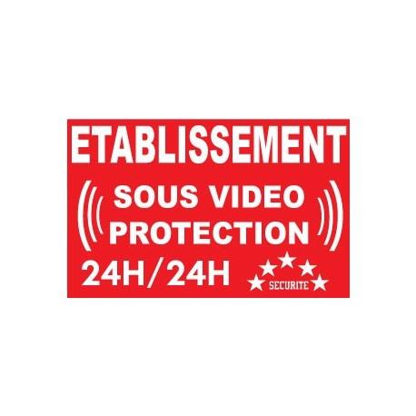 """panneau """"espace sous vidéo protection"""""""