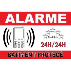 Panneau alarme bâtiment protégé