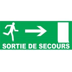 Sortie de secours direction porte à droite