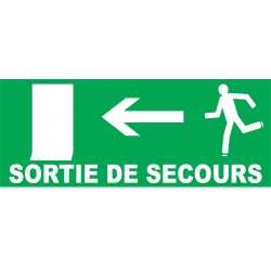 Sortie de secours direction porte à gauche