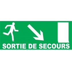 Sortie de secours direction porte en bas