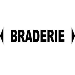 """Signalétique pour manifestations diverses """"BRADERIE"""""""