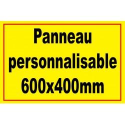 Panneau personnalisé 600x400mm