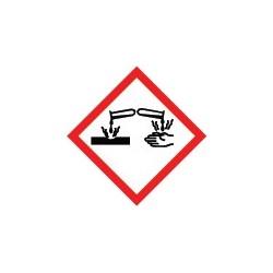 Etiquettes matières corrosives