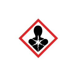 Etiquettes risque mutagène, respiratoire