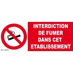 Autocollant interdit de fumer dans cet établissement