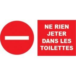 """Adhésif """" Ne rien jeter dans les wc"""""""