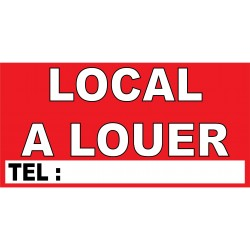 "banderole ""LOCAL A LOUER"" 1000x500mm"