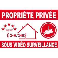 Propriété privée sous vidéo surveillance (lot de 10p)