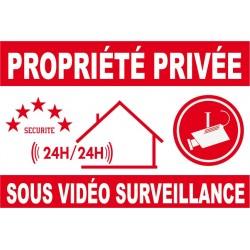 Proprièté privée sous vidéo surveillance 150X100