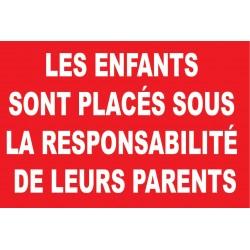 Les enfants sont placés sous la responsabilité de leurs parents