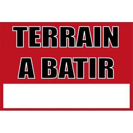 Pancarte Terrain à bâtir