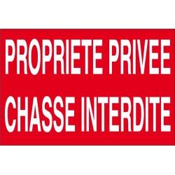 Propriété privée chasse interdite (lot de 10p)