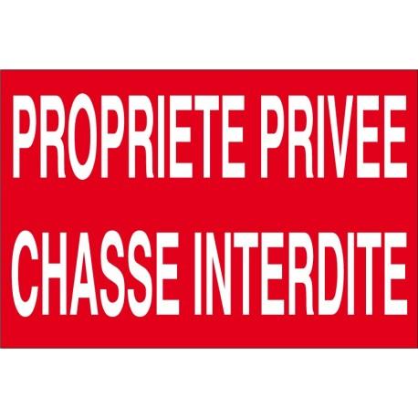 Proprièté privée chasse interdite