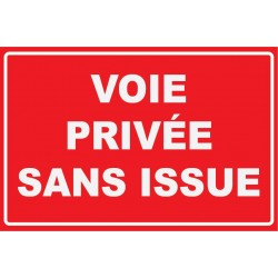 Voie privée sans issue
