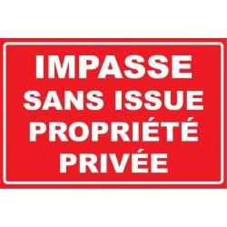 Impasse sans issue propriété privée