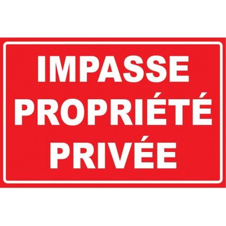Impasse propriété privée