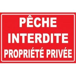 Pêche interdite propriété privée