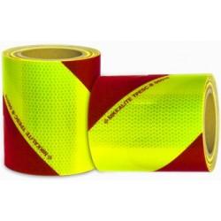 Bandes alternées de sécurité rouge et jaune