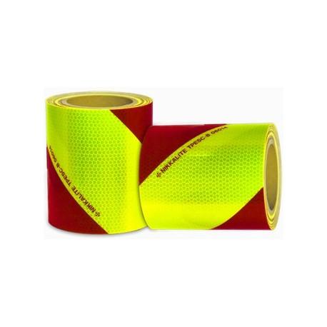 Bande adhésif de sécurité rouge et jaune