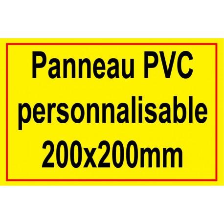 Panneau personnalisé en PVC 200x200mm