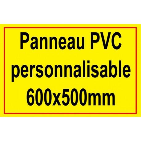 Panneau personnalisé en PVC 500x600mm