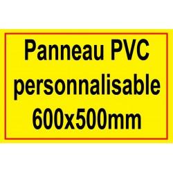 Panneau personnalisé en PVC 600x500mm