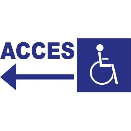 Panneau accés handicapé à gauche