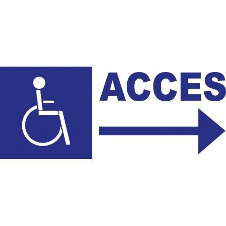 Panneau accés handicapé à droite