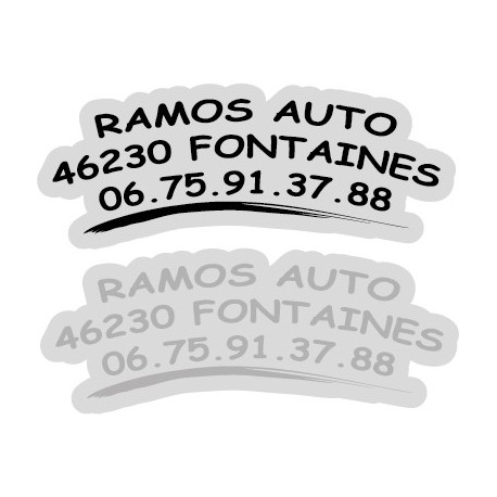 "Signature de coffre auto ""serie avec logo"" 300ex"