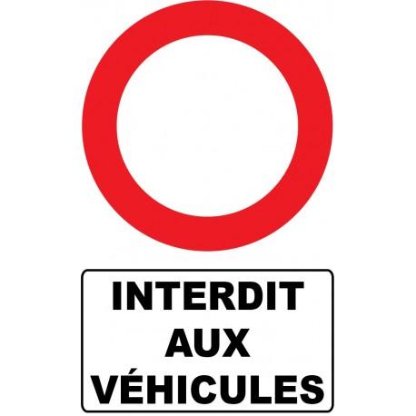 Interdit aux véhicules