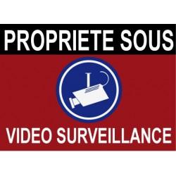 Propriété sous vidéo surveillance 160x100mm