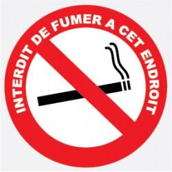 "Adhéif interdit de fumer diam 120mm ""lot de 4p"""