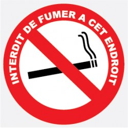 "Adhéif interdit de fumer diam 180mm ""lot de 4p"""