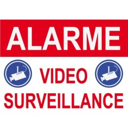 Alarme vidéo surveillance 300x200mm
