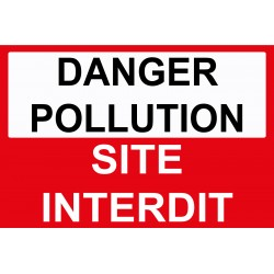 Danger pollution site interdit