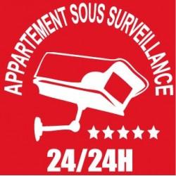 Appartement sous vidéo surveillance 115x115mm