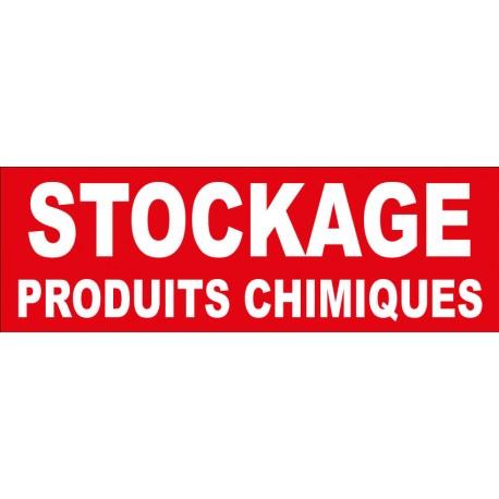 """Adhésif """"Stockage de produits chimiques"""""""