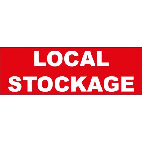"""Adhésif """"Local stockage"""""""