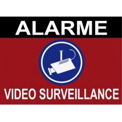 Alarme vidéo surveillance 160x100mm