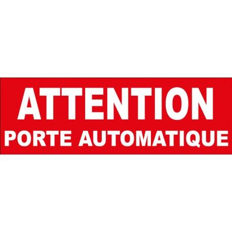"""Adhésif """"Attention porte automatique"""""""