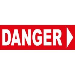 Adhésif danger direction droite