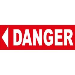 Adhésif danger direction gauche
