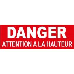 Adhésif danger attention à la hauteur