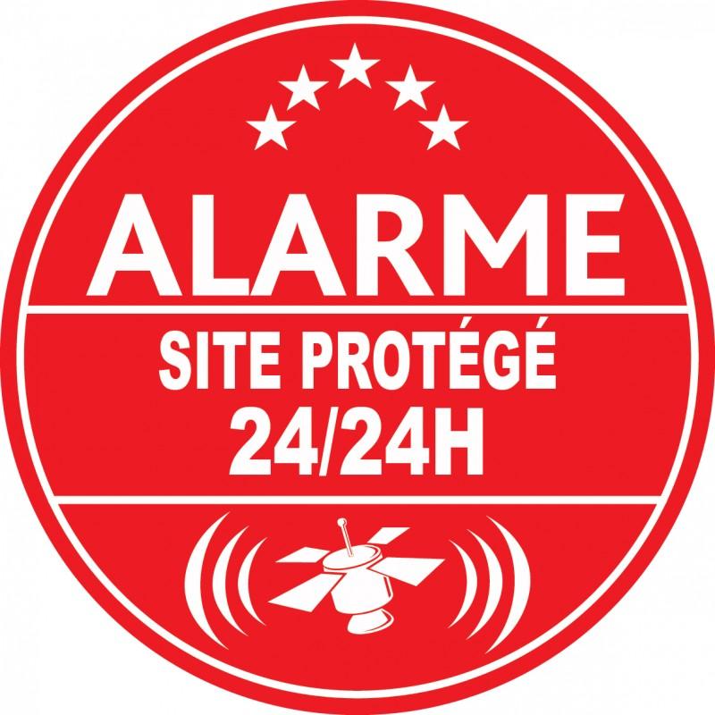 Adhesif de dissuasion alarme site prot g 24h24 for Autocollant alarme maison