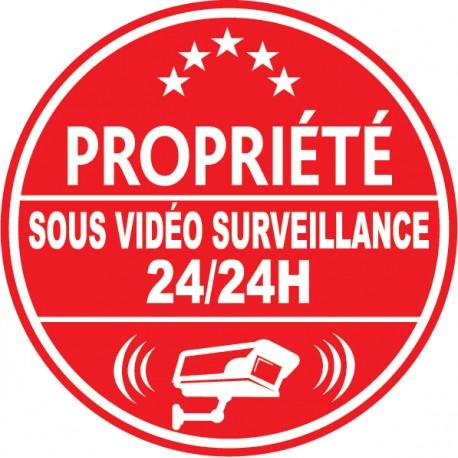 Propriété sous vidéo surveillance 24h24 (lot de 10p)