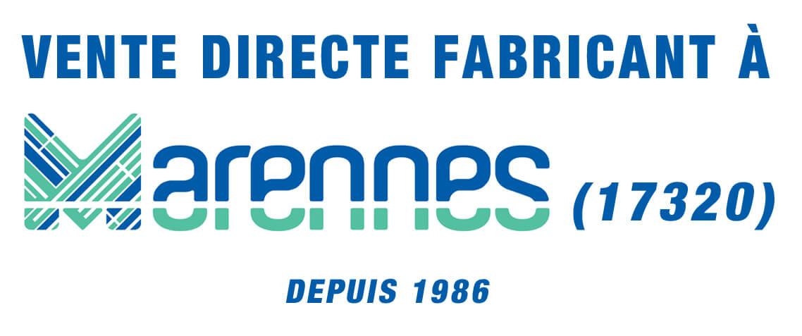 vente directe fabricant à Marennes 17320
